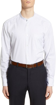 BOSS x Nordstrom Relaxed Fit Stripe Band Collar Dress Shirt