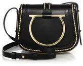 Salvatore Ferragamo Gancio Leather Saddle Bag
