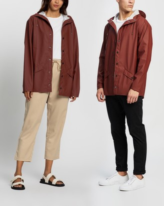 Rains Red Jackets - Jacket - Size One Size, S/M at The Iconic
