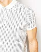 Asos Polo With Ditsy Print