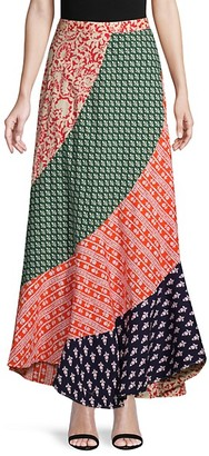 Free People Medley Patchwork Maxi Skirt