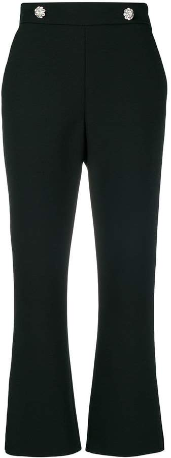 MSGM high-waisted button trousers
