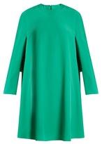 Balenciaga Long-sleeved crepe mini dress