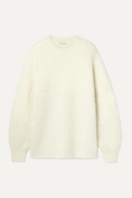 By Malene Birger Joannas Oversized Paneled Wool-blend Sweater - Cream