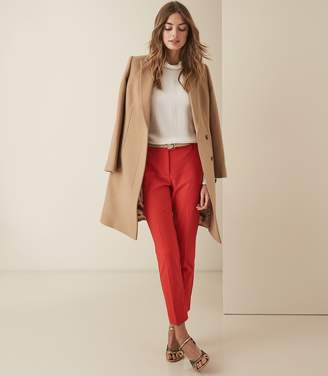 Reiss Joanne - Cropped Tailored Trousers in Red