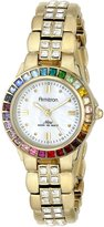Swarovski Armitron Women's 75/3689MPGPRB Multi-Color Crystal Accented Gold-Tone Bracelet Watch