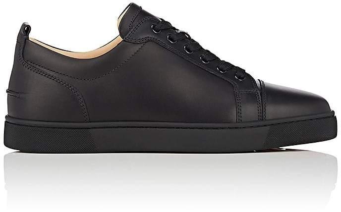 Christian Louboutin Men's Louis Junior Flat Leather Sneakers
