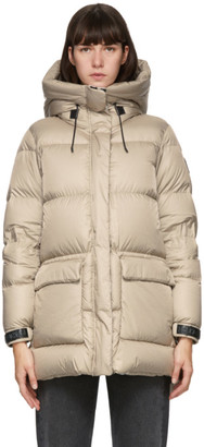 Mackage Taupe Down Foil Shield Maisie Jacket