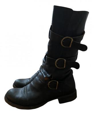 Fiorentini+Baker Black Leather Boots