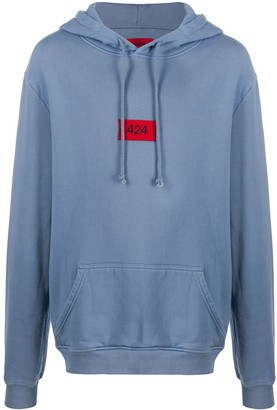 424 Embroidered Logo Cotton Hoodie
