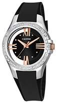 Calypso Women's Quartz Watch with Black Dial Analogue Display and Black Plastic Strap K5680/3