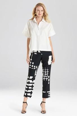 Natori Cotton Poplin T-Shirt Top