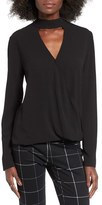 WAYF Women's 'Take Me Away' Wrap Blouse