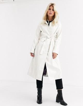Fabienne Chapot Scott PU trench coat-White