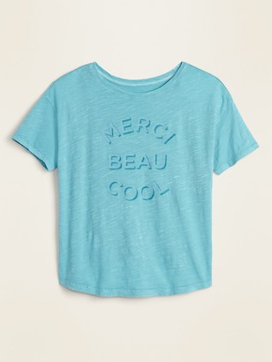 Old Navy Graphic Garment-Dyed Easy Tee for Women