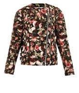 Givenchy Rose-print wool biker jacket
