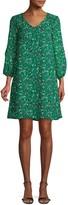 ABS by Allen Schwartz V-Neck Floral Shift Dress
