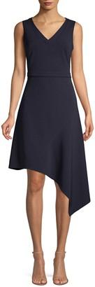 Donna Karan Sleeveless Asymmetric Dress