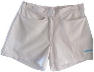adidas White Polyester Shorts