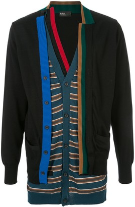 Kolor Knitted Layered Cardigan