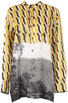 Dries Van Noten Calyba Geometric Print Shirt