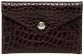 Boconi Croc Embossed Envelope Card Case