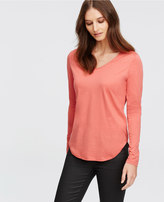 Ann Taylor Tall V-Neck Long Sleeve Tee