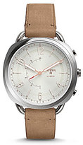 Fossil Q Accomplice Leather-Strap Hybrid Smart Watch