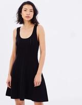 Polo Ralph Lauren Picot-Stitched Scoop Neck Dress