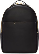 Giuseppe Zanotti Black Leather Calby Backpack