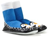 Moccis Blue Penguin Print Moccasin Socks