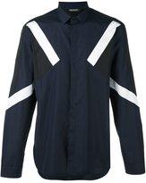 Neil Barrett colour block shirt - men - Cotton - 41