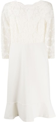 Lauren Ralph Lauren Peplum-Hem Lace Dress