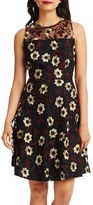 Donna Morgan Women's Floral Embroidered Fit & Flare Dress