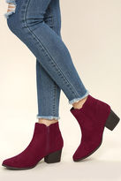 Qupid Dorothy Black Suede Ankle Booties