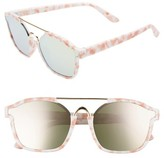 Leith Women's Eve Bank 57Mm Mirrored Sunglasses - Blue