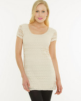 Le Château Knit Lace Scoop Neck Tunic