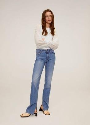 MANGO Dolman-sleeve sweater ecru - M - Women