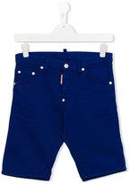 DSQUARED2 knee length denim shorts - kids - Cotton/Spandex/Elastane - 13 yrs