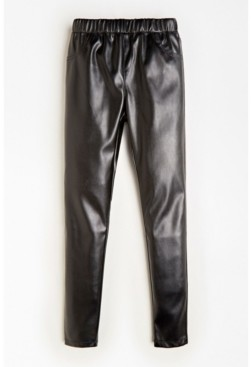 GUESS Big Girls Stretch Faux Leather Pull On Jeggings