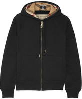 Burberry - Cotton-blend Jersey Hooded Top - Black
