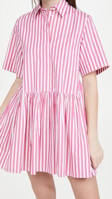 A-Line Broad Stripe Shirt Dress