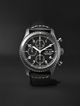 Breitling Navitimer 8 Automatic Chronograph 43mm Black Steel and Leather Watch, Ref. No. M13314101B1X1 - Men - Black