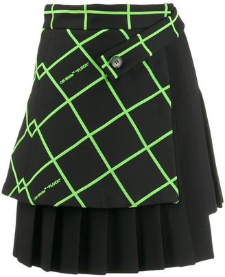 Off-White Multipanel Mini Skirt