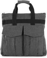 Topman Grey Textured Holdall Backpack