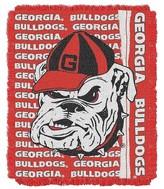 "NCAA Georgia Jacquard Throw - Multi-Colored (48""x60"")"