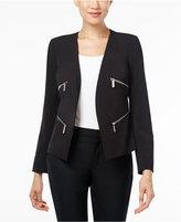 MICHAEL Michael Kors Zip-Trim Open-Front Blazer