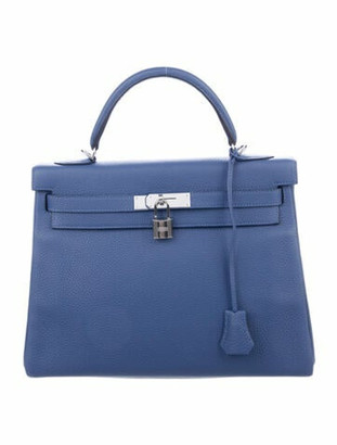 Hermes 2018 Togo Kelly Retourne 32 Blue