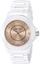 Cabochon Women's 330 Ceramique Analog Display Swiss Quartz White Watch