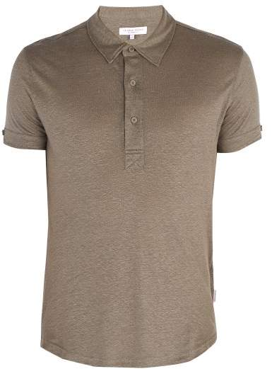 Orlebar Brown - Sebastian Linen Polo Shirt - Mens - Grey